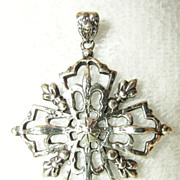 Sterling Peruzzi Boston Cross Pendant Medallion CA 1930-1981