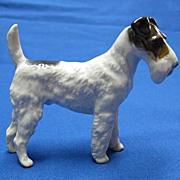 Rosenthal Wire Haired Terrier Porcelain Dog Figure Germany Quality ca. 1940s-50s
