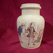 Vintage French Mustard Pot by K&G Luneville depicting a Young Lady with her Suitor ...