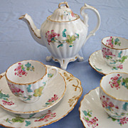 Antique Miniature Porcelain Part Tea Set Handpainted Transferware for a  Doll or Child