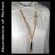 Vintage 1920s Flapper's Beaded and Fringed Necklace