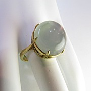 SOLD Vintage 18k Solid Gold Large Moonstone Ring Circa 1940's