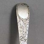 1700s English Sterling Serving Spoon
