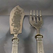 1900s Russian Silver Fish Set