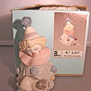 Lladro Figurine Pierrot with Puppy, Original Box