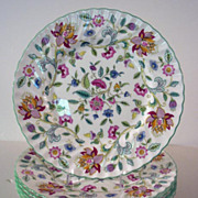SALE PENDING Haddon Hall Dinner Plates by Minton, 1949