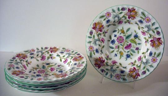 Haddon Hall Soup Bowls by Minton, 1949