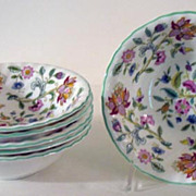 Haddon Hall Cereal or Dessert Bowls by Minton