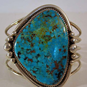 Sterling and Turquoise Navajo Bracelet