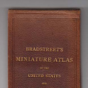 1879 Bradstreet's Miniature Atlas of the US and Canada