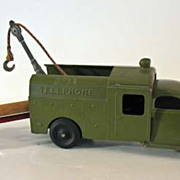Vintage Hubley Bell Telephone Truck, Pole and Pole Carrier