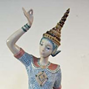 SOLD Lladro Male Siamese Dancer