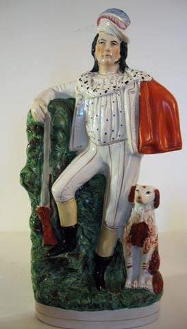 Victorian English Staffordshire Hunter