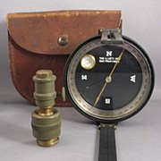SOLD Lietz Surveyor Compass in Leather Case w/ Jacobs Fixture