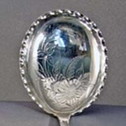 1870 Engraved Sterling Serving Spoon