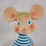 SOLD Vintage 60s Topo Gigio Bobble Head Figure Rossini Ed Sullivan Show Puppet