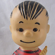 SOLD 1950s Hungerford Linus Peanuts Charlie Brown Character Vinyl Doll