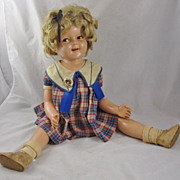 "SOLD 25"" Shirley Temple Doll Bright Eyes Flirty Outfit Shoes Pin All Original"