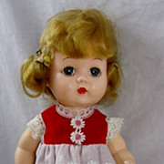 10� Miss Addie Straight Leg Walker Doll Block Littlest Angel HP 1950s