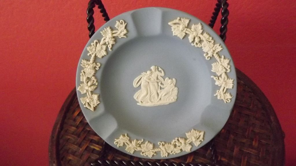 Wedgwood Blue Jasperware Ashtray