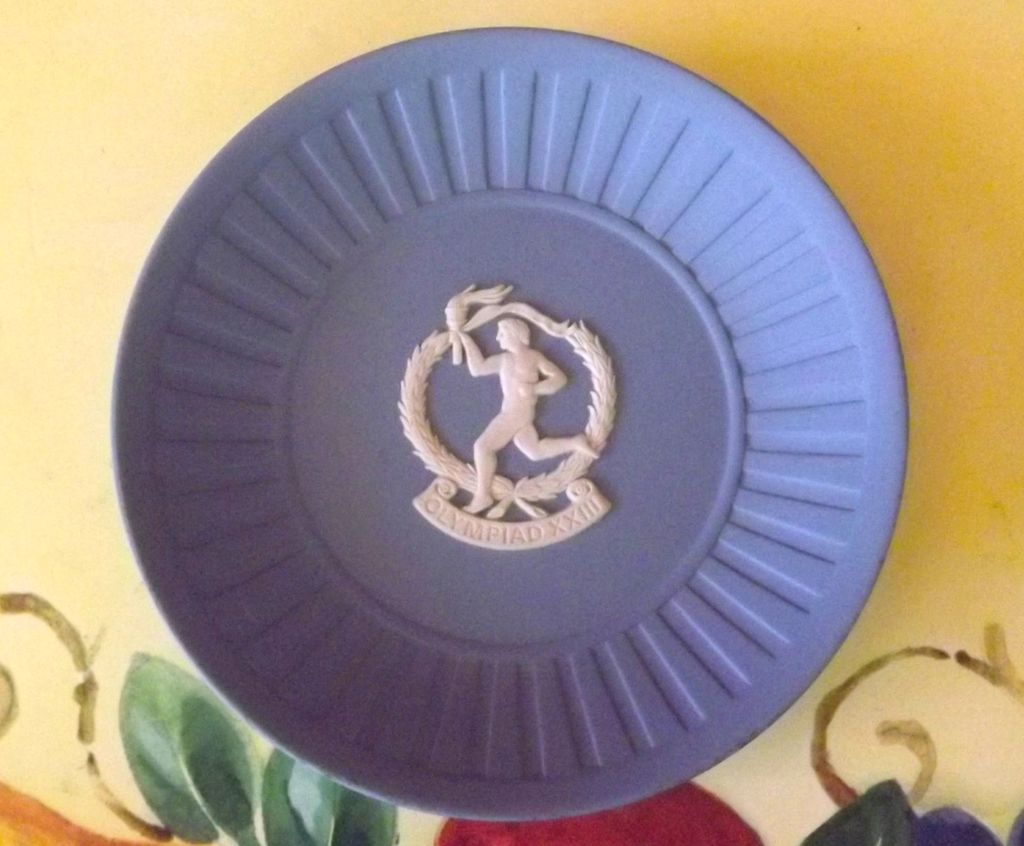 Wedgwood Blue Jasperware Plate for 23rd Olympic Games in Los Angeles