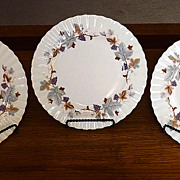 "Royal Albert Fine English Bone China Salad Plates in ""Lorraine"" Pattern"