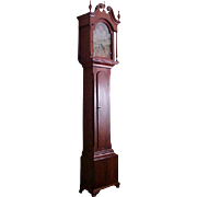 Pennsylvania Tall-Case Grandfather Clock 1773,  Provenance to Rascover & Sanger families