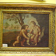 Spanish Colonial Oil Painting -- 17-18th Century