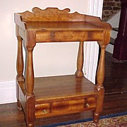 Period New England Maple Washstand C. 1820