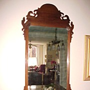 Antique Chippendale Looking-Glass Mirror  C. 19th century