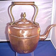 Antique Large Copper Tea Kettle