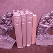 "SALE Vintage Bookends ""The Thinker"" 1927"