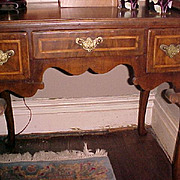 REDUCED Antique English Elm Queen Anne Lowboy with provenance