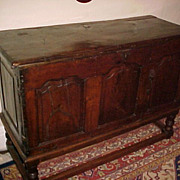 Antique French Chestnut Sideboard/Coffer  C. 1650