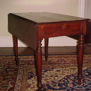 Scottish Short-Drop Leaf  Mahogany Table  C. 1830 with Tremendous Original Character