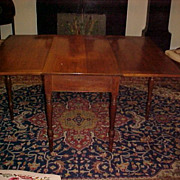 American Walnut Long Drop Leaf Table C. 1830 with provenance