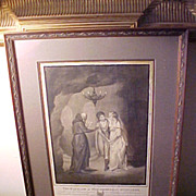 Original Grisaille Illustration for Dryden poem, monogram & date 1793