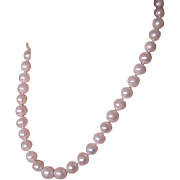 REDUCED Estate Akoya Cultured 10-10.5 mm Pearl Necklace 14K gold clasp