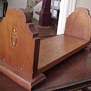 Mahogany Book Holder Early 1900's Urn Inlay