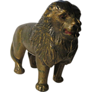 Cast Iron 1920's Lion Still Bank