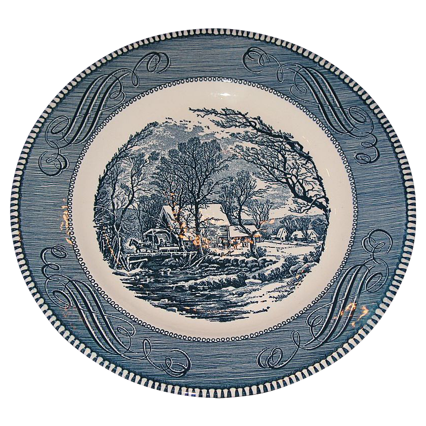 Currier And Ives Plates