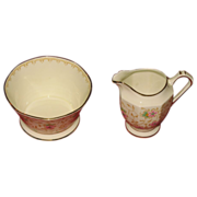 Miniature pitcher and berry bowl  Made in England