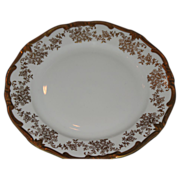 Beautiful Weimar  gilded cake plate Gold garlands of flowers