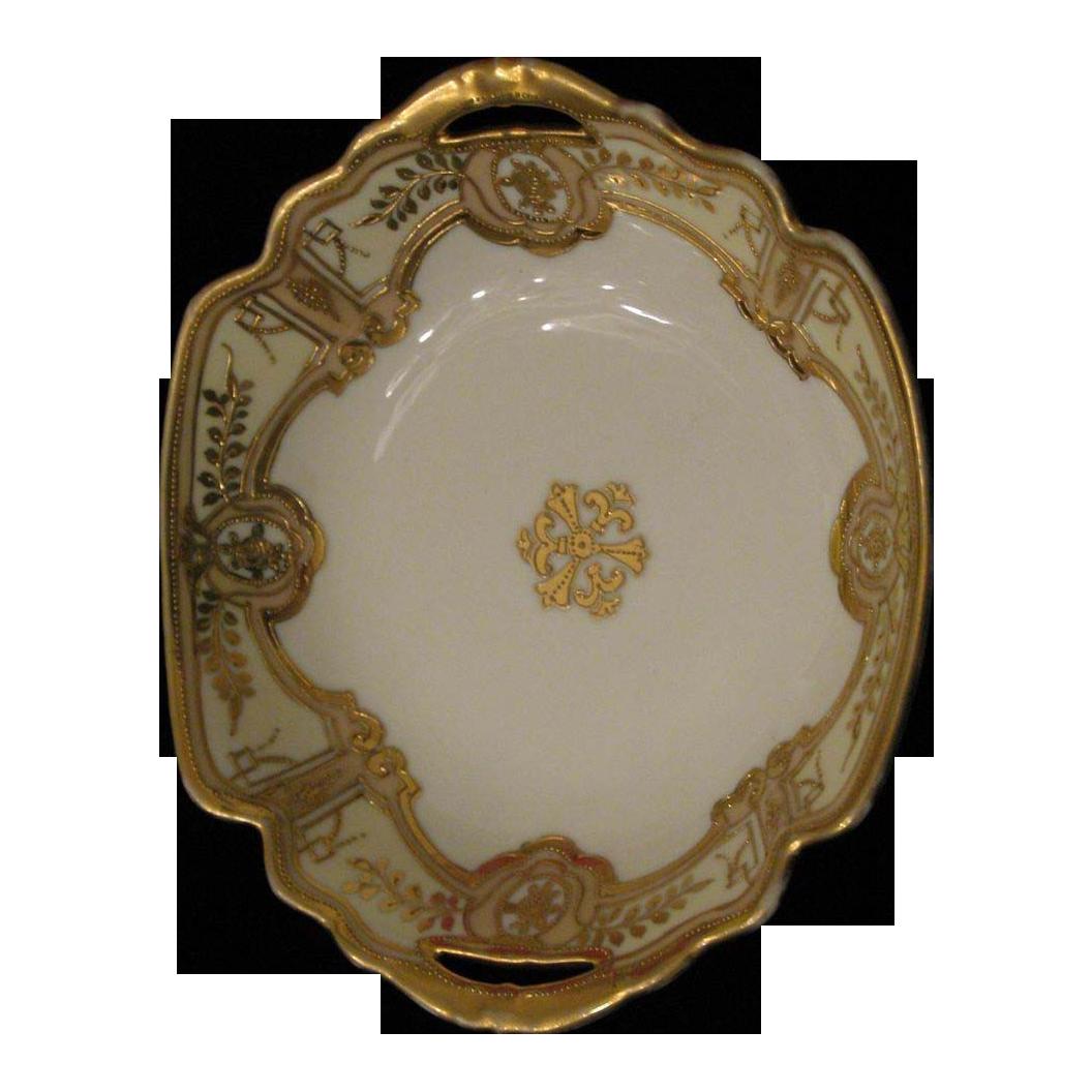 Hand Painted Porcelain Raised Gold Beading