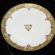 Nippon  plate gilt border with grapes