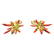 Vendome earrings  clip   starburst