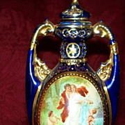 Royal Vienna Potpourri Vase with Lovers