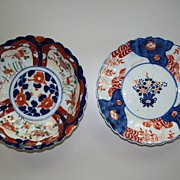 Two  Japanese Imari Fluted, Lobed Bowls ca.1900