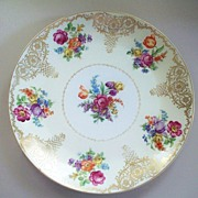 "Large Schumann Bavaria ""Dresden"" Flowers Fluted Charger   13"""