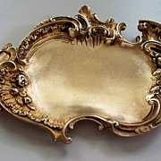 Antique French Dori-Bronze Art Nouveau Rococo Card Tray C.1890